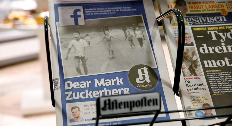 Den norske avis Aftonposten havde i dag det omdiskuterede billede på forsiden sammen med en hilsen fra den norske statsminister til Mark Zuckerberg, stifter af Facebook.