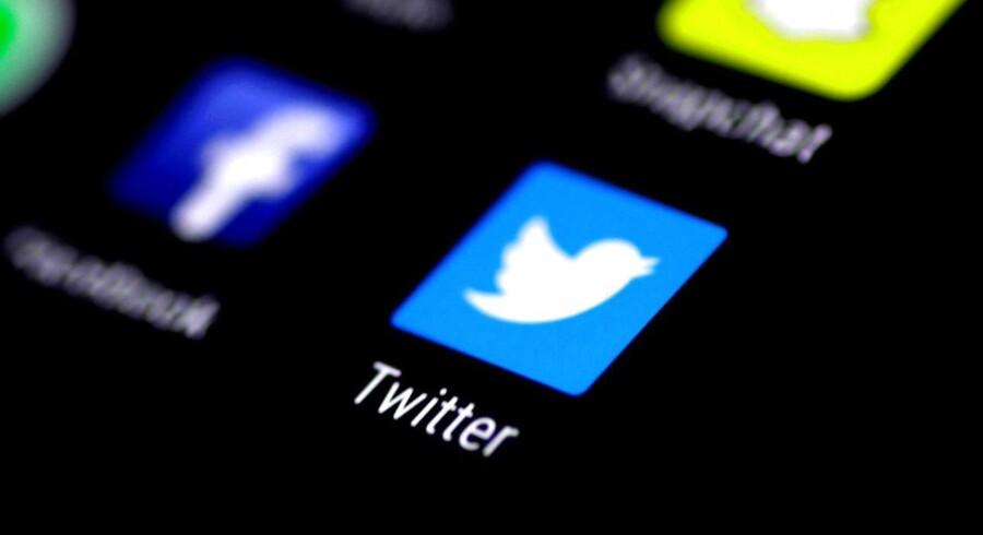 Twitter har på trods af 300 millioner månedlige brugere i mange år været en underskudsforretning. I februar i år kunne det sociale medie for første gang præsentere sorte tal på bundlinjen. Arkivfoto: Thomas White, Reuters/Scanpix