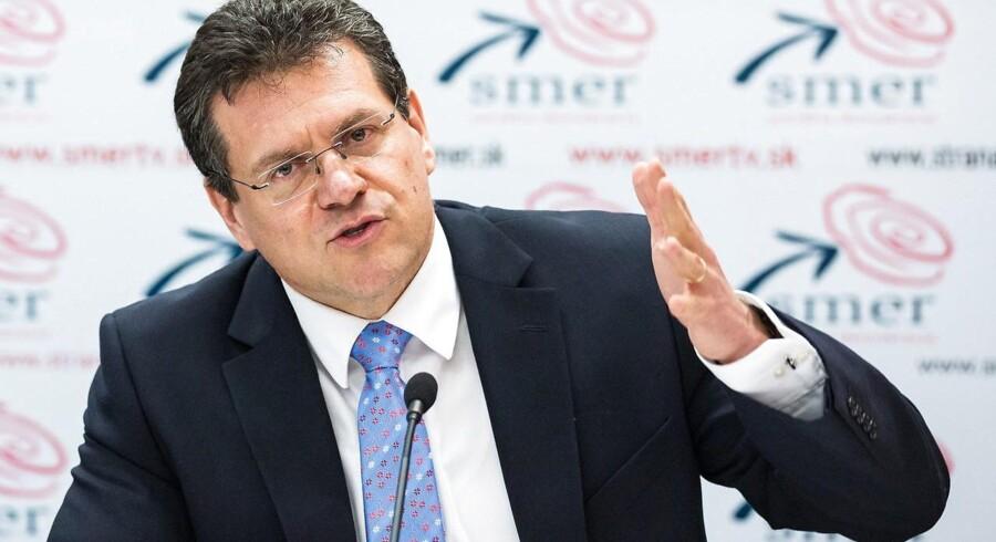 Det er et ambitiøst mål, påpeger Maroš Šefčovič, der er næstformand i kommissionen med klimaunionen under sig.