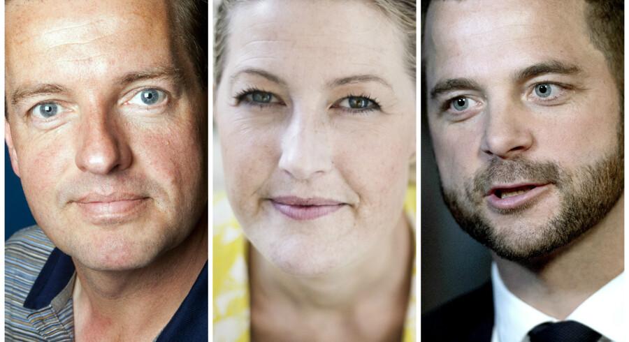Jens Rohde, Sofie Carsten Nielsen, og Morten Østergaard.