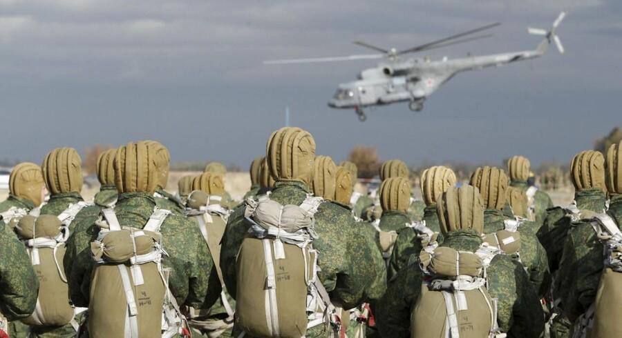 I morgen indledes en ugelang militærøvelse i det vestlige Rusland og Hviderusland. Arkivfoto.
