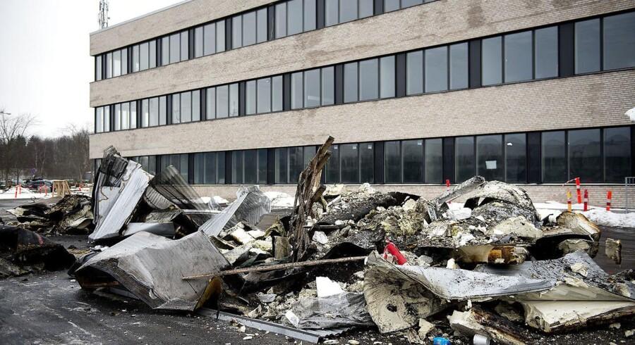 Arkivfoto: Det kan ikke udelukkes, at en brand i Rigspolitiets nye bygning i Glostrup var påsat.