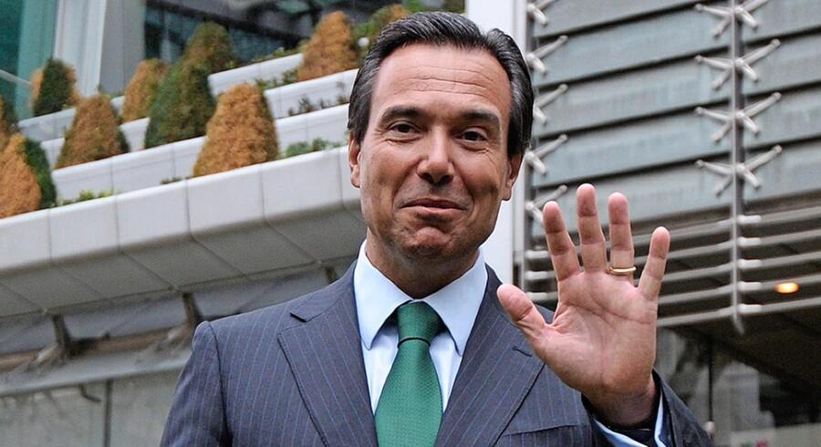 Antonio Horta Osório har tjent omkring 325 mio. kr. fordelt på seks år, hvor han har trukket Lloyds Bank væk fra fallittens rand. Arkivfoto: Carl Court/AFP
