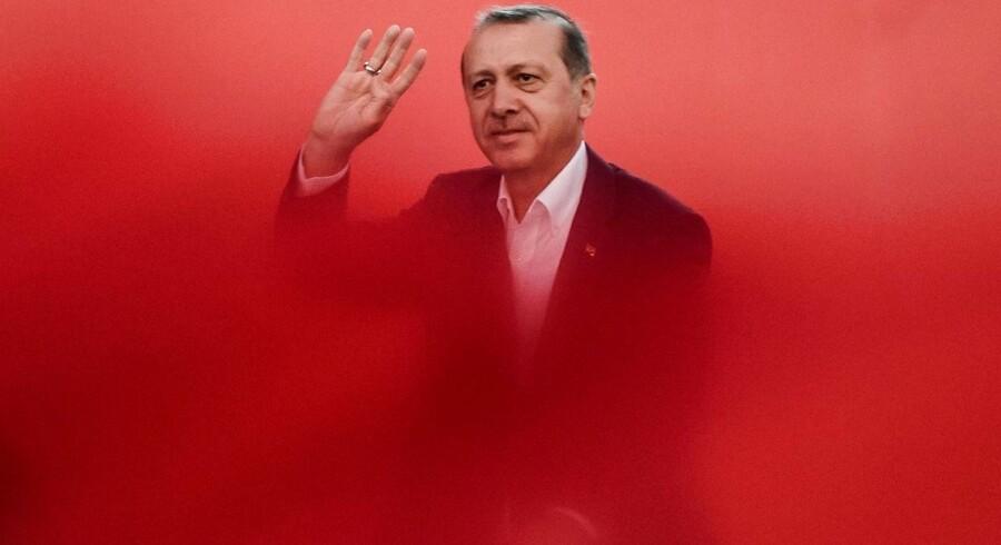 Arkivfoto: Den tyrkiske præsident Recep Tayyip Erdogan.
