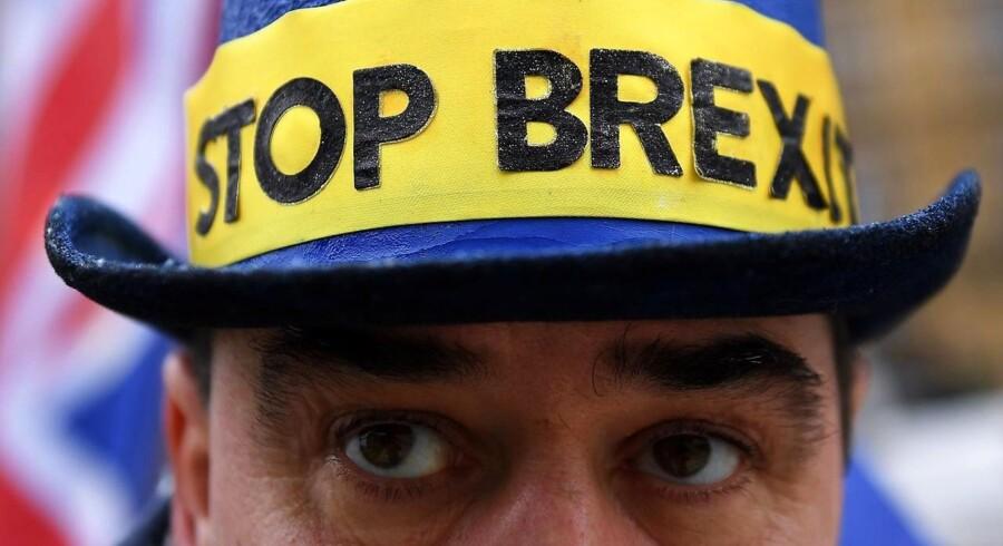 Brexit er kommet i strid modvind, og EU-tilhængere har fået fornyet håb, at en ny britisk folkeafstemning er mulig. Foto: Andy Rain/EPA