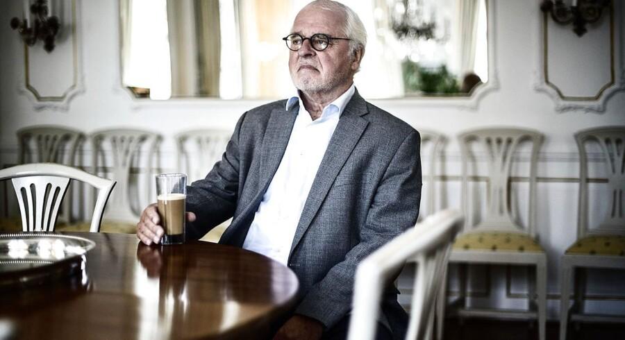Arkivfoto. Johan Schlüter i hans hjem på Esplanaden den 8. oktober 2015. Københavns Byret er i disse dage rammen om en af danmarkshistorien mest spektakulære bedragerisager. (Foto: Simon Læssøe/Scanpix 2018)