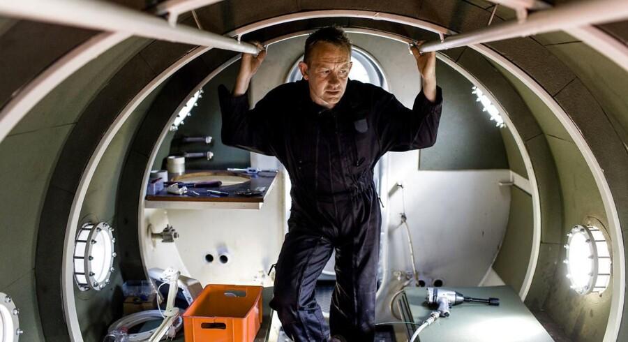 Arkivfoto. Peter Madsen i sin hjemmebyggede ubåd Nautilus.