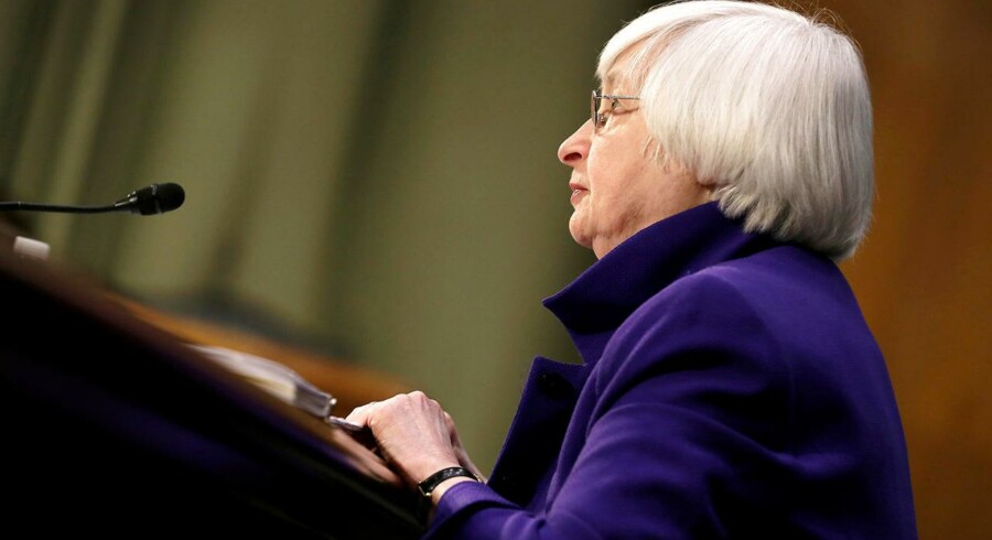 Chefen for den amerikanske centralbank, Federal Reserve, Janet Yellen