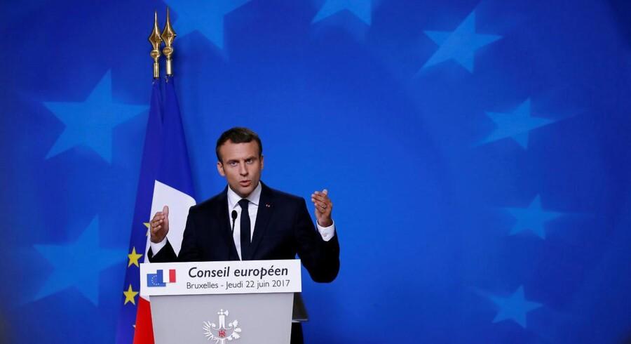 Arkivfoto. Emmanuel Macron var i den grad i fokus, da to dages EU-topmøde torsdag eftermiddag begyndte.