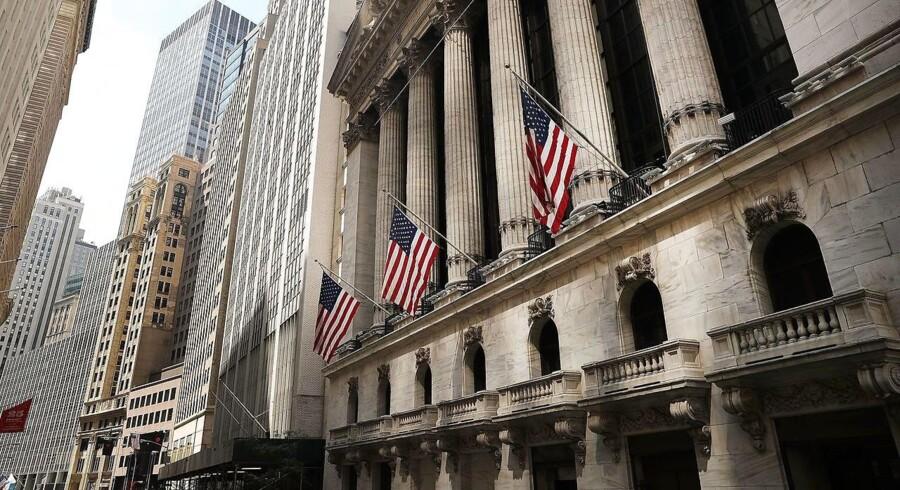 Den amerikanske økonomi voksede med 2,9 pct. i tredje kvartal i forhold til andet kvartal opgjort i annualiserede tal. Arkivfoto: Wall Street