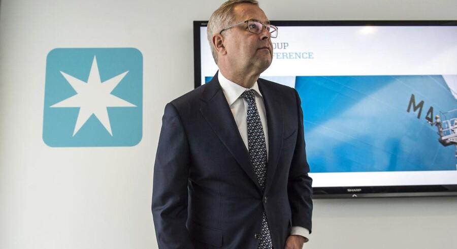 ARKIVFOTO 2016 af Mærsk CEO Søren Skou til et pressemøde d. 22. september 2016-