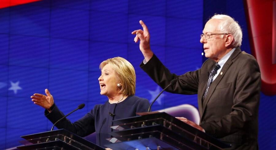 Søndagens debat fandt sted i kølvandet på Bernie Sanders' sejr i staten Maine, hvor der blev holdt primærvalg.