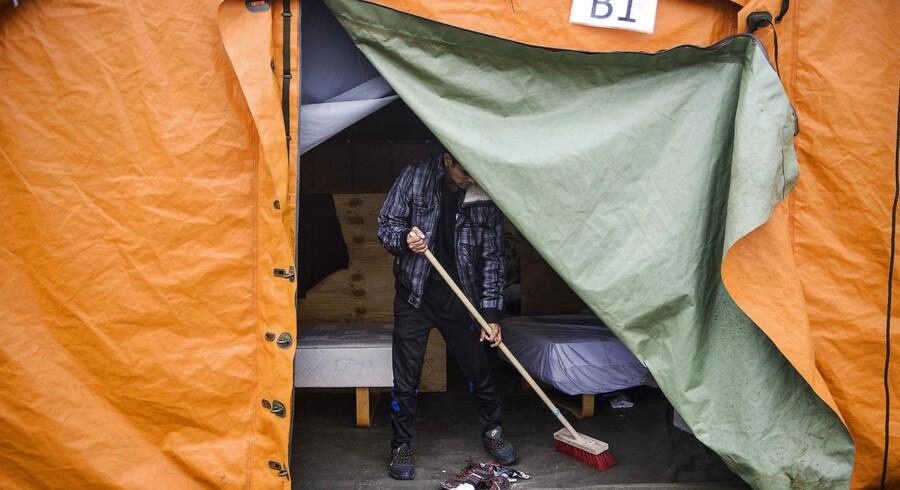 ARKIVFOTO 2016 af flygtninge-teltlejr i Thisted.