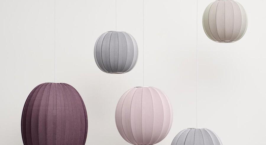 De nye lamper Knit-Wit er lavet i bæredygtigt strik.