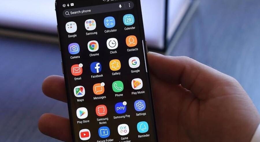 Det er de samme apps, vi bruger igen og igen på mobiltelefonen og tavle-PCen, viser stor undersøgelse. Arkivfoto: Timothy A. Clary, AFP/Scanpix