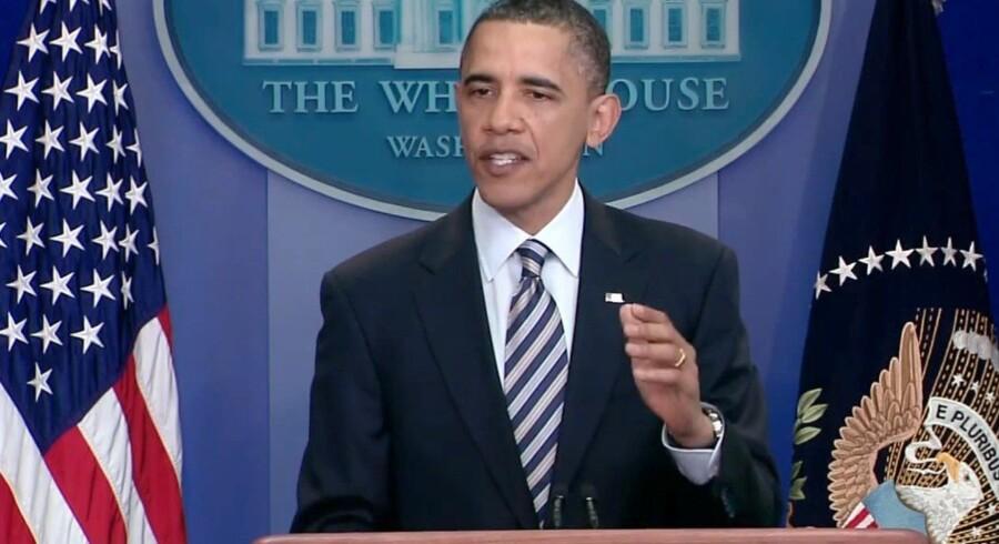 USA's præsident, Barack Obama, er blevet kaldt en horeunge af Filippinernes præsident, Rodrigo Duterte. Nu har Obama aflyst et møde mellem de to. Arkivfoto. Free