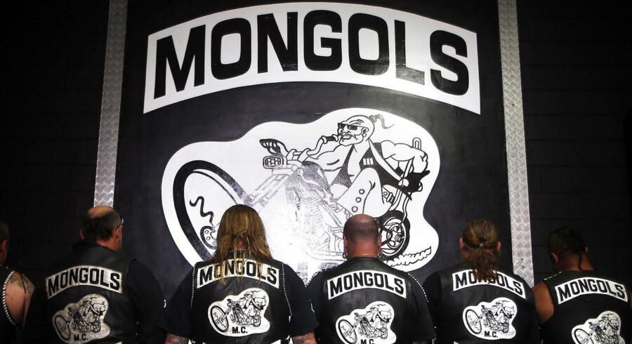 Mongols MC-medlemmer drog fra Storkøbenhavn kort tid efter en kvinde blev kørt ned i Sakskøbing. REUTERS/David Gray (AUSTRALIA -