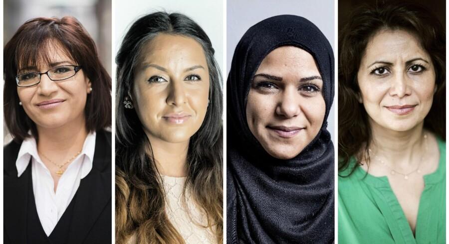 Elmas Berke (t.v.), Geeti Amiri, Natasha Al-Hariri og Özlem.