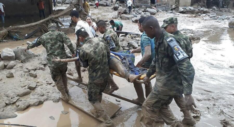 Dødstallet fortsætter med at sige efter et jordskred i byen Mocoa i Colombia.