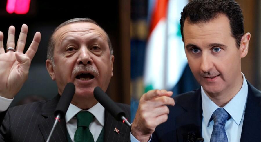 Recep Tayyip Erdogan, Tyrkiets præsident, og Bashar al-Assad, Syriens præsident.