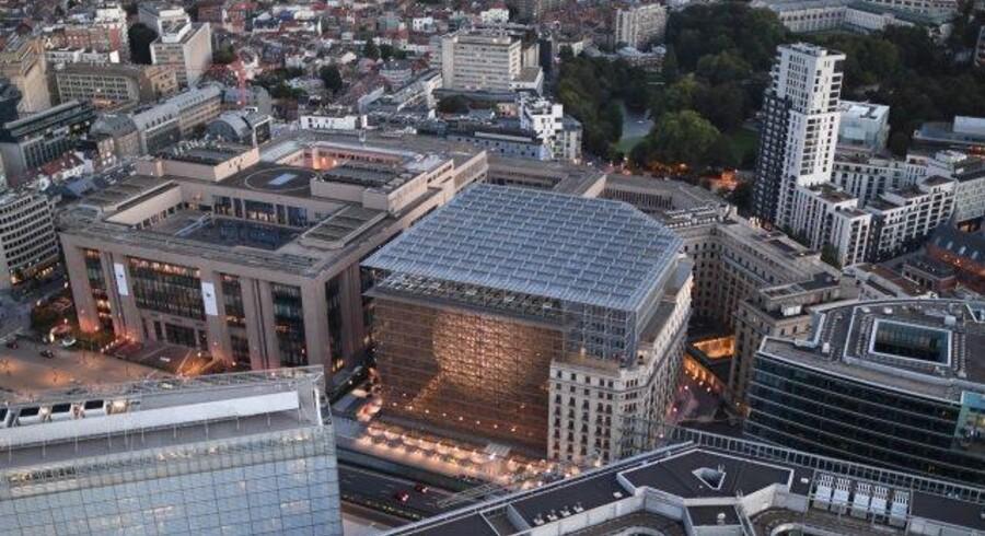 Europa-bygningen, også kendt som rum-ægget, har problemer med giftige gasser. Free/©european Union