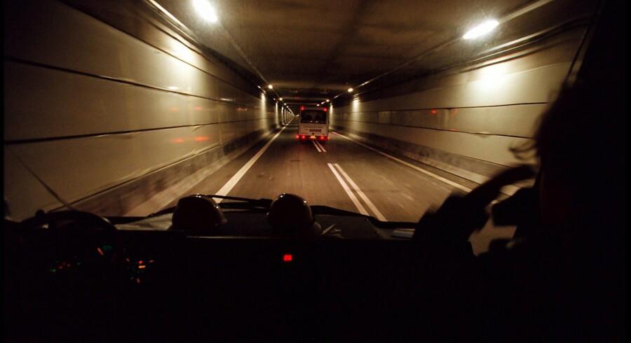 Alarmklokken lød hos Københavns Politi, da fire personer natten til onsdag forsøgte at gå fra Danmark til Sverige gennem Øresundstunnelen. De er nu anholdt af Københavns Politi. (Arkivfoto) Scanpix/Liselotte Sabroe
