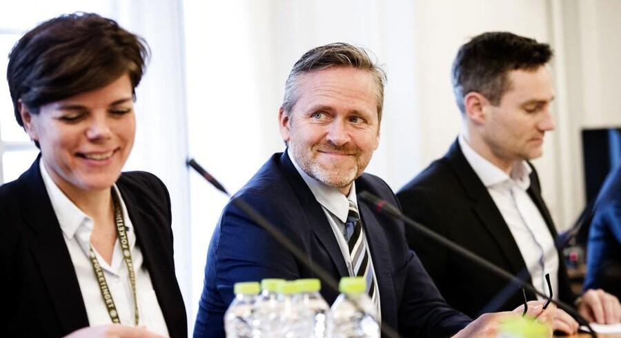 Udenrigsminister Anders Samuelsen (LA) og forsvarsminister Claus Hjort Frederiksen (V) deltager onsdag d. 1 marts 2017 i samråd om Danmarks militære samarbejde med USA efter Donald Trumps tiltræden som amerikansk præsident. Arkivfoto. (Foto: Jens Astrup/Scanpix 2017)