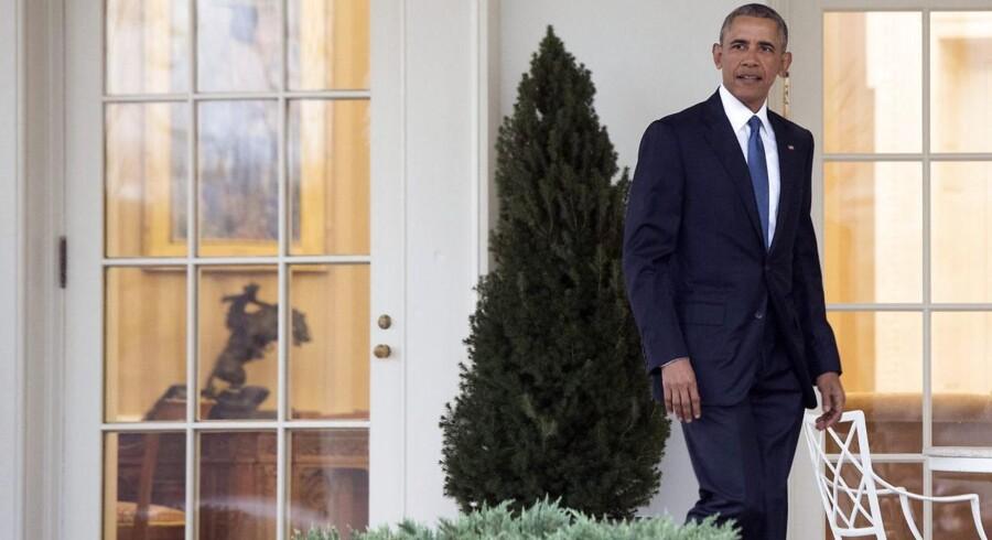 Barack Obama forlader her Det Ovale Kontor i Det Hvide Hus for sidste gang som præsident, 20. januar 2017.