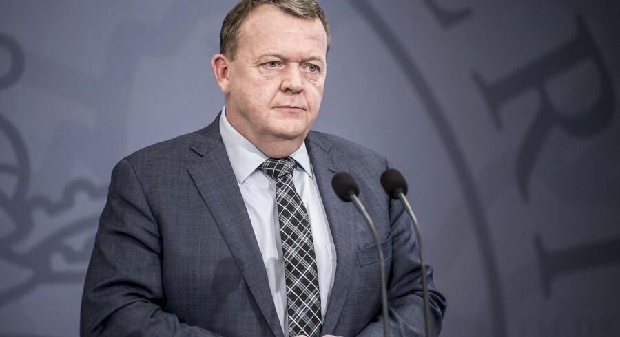 Pressemøde i Statsministeriet med Statsminister Lars Løkke Rasmussen, onsdag den 17. januar 2018.