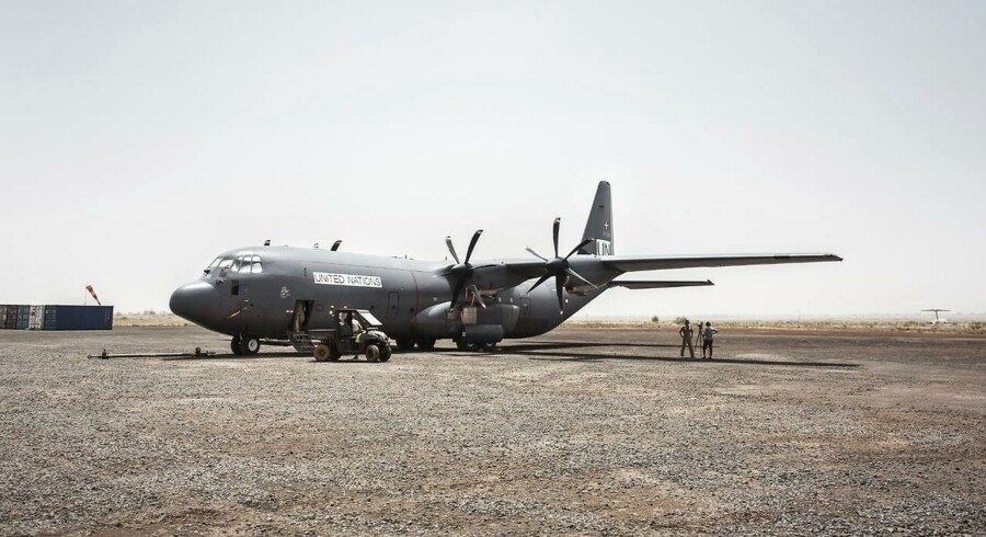 Arkivfoto: RB plus. Ny Mali-mission skræmmer ikke dansk chef. Forsvarets Hercules-fly kommer ikke for alvor i farezonen i Mali, hvor det skal flyve for FN- mission. (Foto: Niels Ahlmann Olesen/Scanpix 2017)