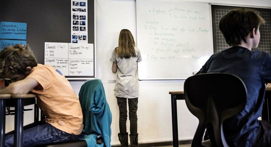 (ARKIV) Undervisning på folkeskole. 5. klasse på Rungsted skole 24. januar 2014.
