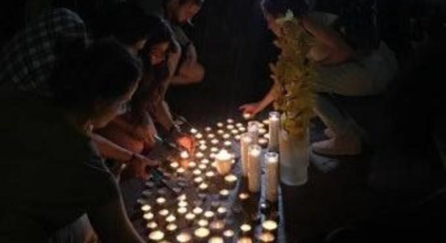 Onsdag aften samledes Kim Walls venner og tidligere studiekammerater foran Columbia Universitet, hvor den dræbte svensker havde læst journalistik, for at mindes. Free/Privatfoto