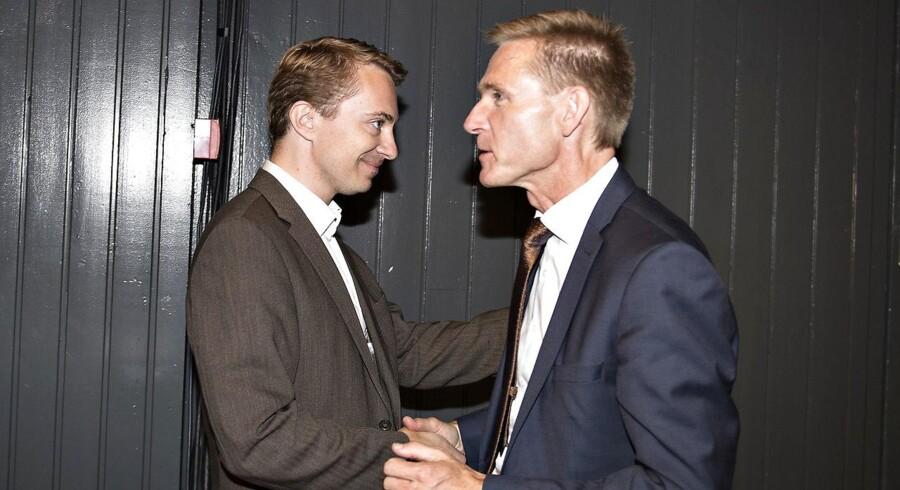 Medlem af Europa-Parlamentet Morten Messerschmidt og DF-formand Kristian Thulesen Dahl på Dansk Folkepartis årsmøde i Herning Kongrescenter i september 2016.