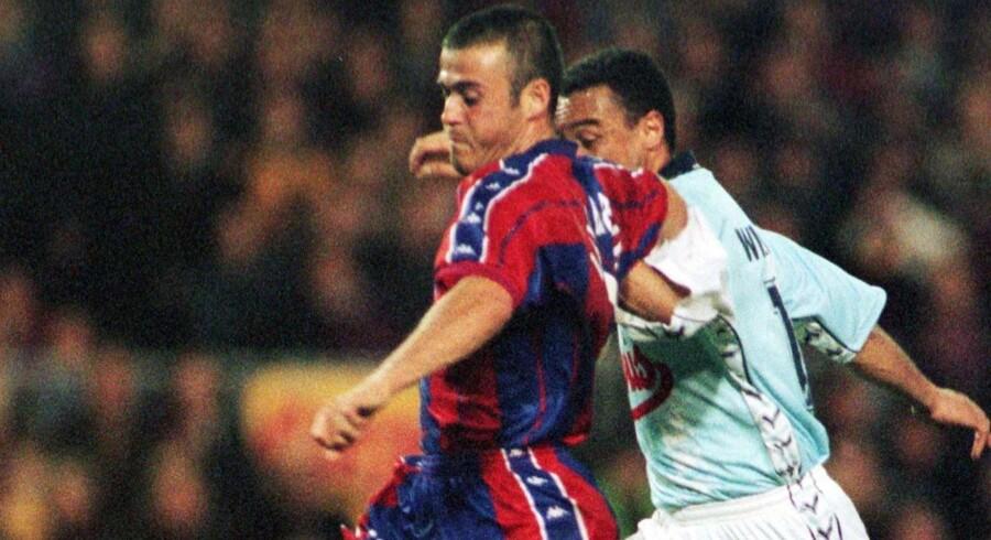 Som spiller var Luis Enrique både forbi Real Madrid og ærkerivalen Barcelona. Gustau Nacarino/Reuters
