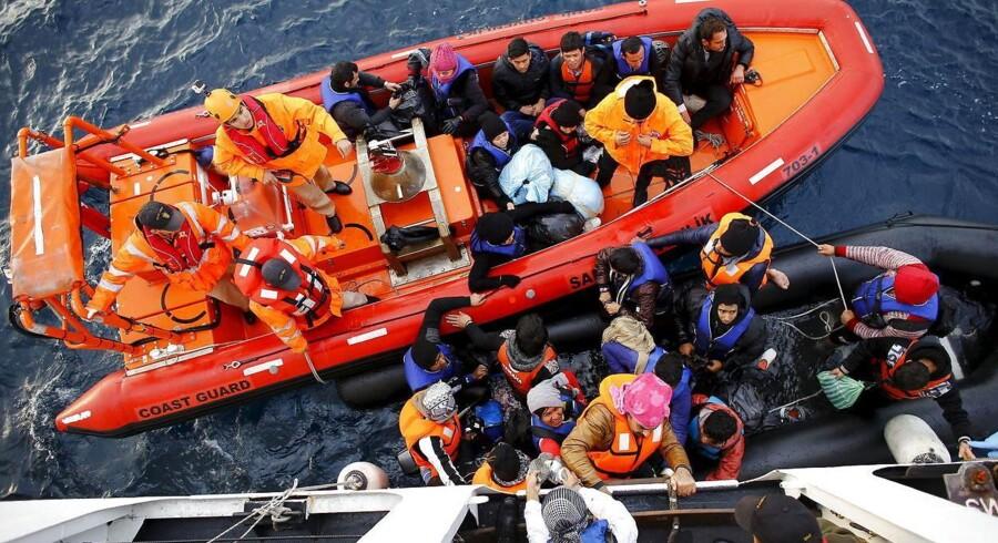 Tyrkiet tilbyder EU hjælp til at løse flygtningekrisen. Men Tyrkiets tilbud lugter ifølge Dansk Folkeparti og Enhedslisten langt væk af både urimelige betingelser og en begrænset effekt. Arkivfoto: Umit Bektas/Reuters