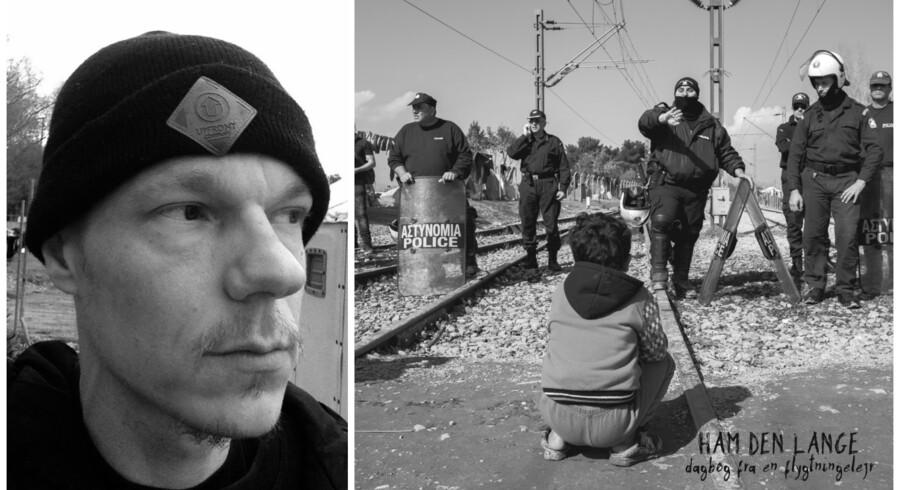 Privatfoto og cover af Ham Den Langes nye plade »Dagbog fra en flygtningelejr«.