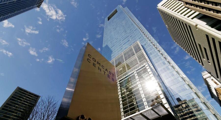 Comcast, der er USAs største kabel-TV- og internetudbyder, slipper sammen med sine konkurrenter for at skulle bede om kundernes tilsagn, før de kan sælge oplysninger om bl.a. deres færden på nettet til annoncører. Arkivfoto: Dave Clark, AFP/Scanpix