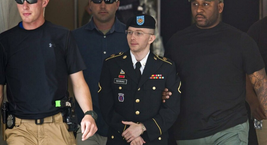 Arkivfoto af Bradley Manning.
