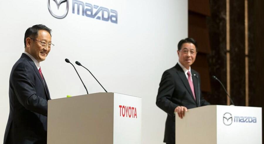 Toyota vil stå for 90 procent af det nye selskab til fremme af nye teknologier i elbiler. Mazda og Denso Corporation, der er Toyotas største underleverandør, skal have fem procent hver.
