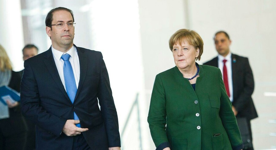 Tirsdag besøgte Tunesiens ministerpræsident Youssef Chahed den tyske kansler Angela Merkel i Berlin for at diskutere hjemsendelser af afviste asylansøgere og illegale migranter.