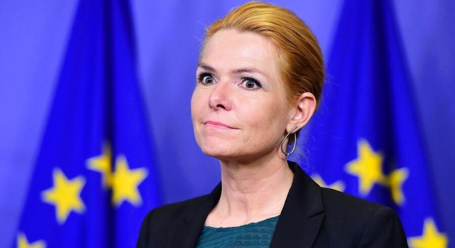 Inger Støjberg. FOTO: AFP / EMMANUEL DUNAND
