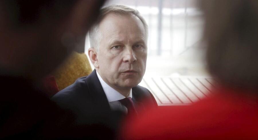 Den 20. februar fortalte Ilmars Rimsevics på en pressekonference, at han ikke vil trække sig som centralbankdirektør og medlem af Den Europæiske Centralbanks styrelsesråd. EPA/Valda Kalnina