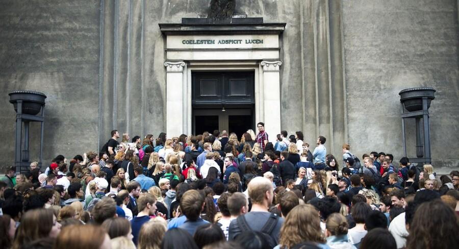 Der bliver på flere universiteter stillet krav om en minimumskarakter på kvote 1 for overhovedet at blive optaget. (Foto: Ólafur Steinar Gestsson/Scanpix 2016)