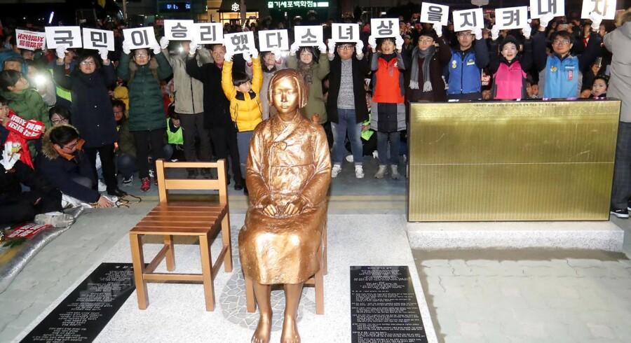 Den meget omdiskuterede statue til minde for ofrene for den japanske hærs sexslaveri under Anden Verdenskrig.