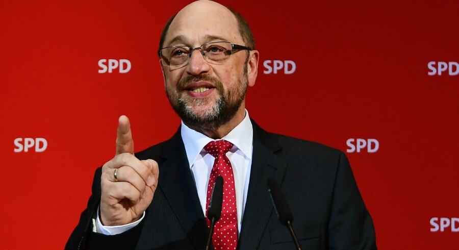 Udfaldet af valget i den tyske delstat Saarland søndag blev et tilbagefald for socialdemokraterne i SPD og deres nye frontfigur, Martin Schulz, tidligt i valgkampen op til efterårets forbundsdagsvalg. Scanpix/Tobias Schwarz