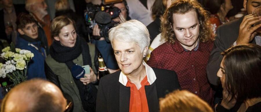 SF holdt en slukøret valgfest på Charlottenborg efter kommunalvalget.