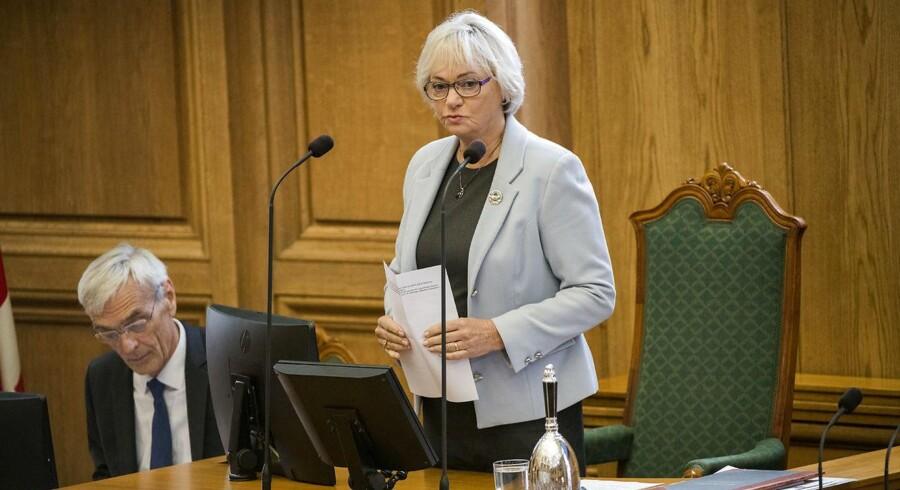 Folketingets formand Pia Kjærsgaard (DF) under Folketingets åbning 3. oktober 2017.