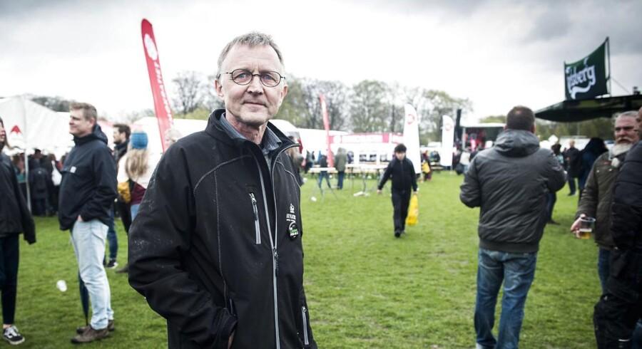 Anders Bondo Christensen opfordrer lærerne til at tøjle strejke-lysten. Lærerformanden ses her i Fælledparken 1. maj 2018.