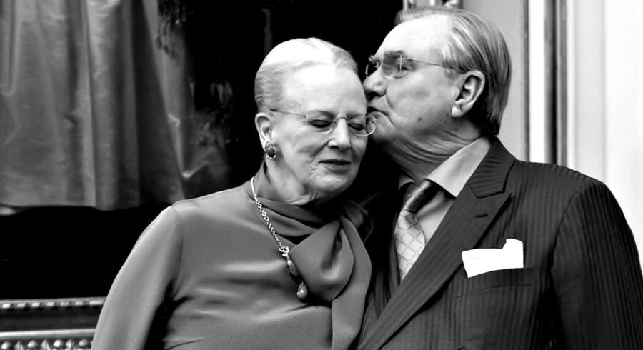 Arkivfoto. Fredag har dronning Margrethe og prins Henrik været gift i 49 år. Men der bliver ingen stor fest næste år. (Foto: Keld Navntoft/Scanpix 2016)