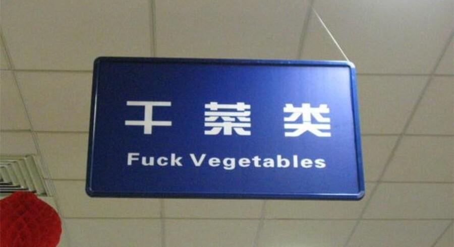 Havde oversættelsen været korrekt, havde der stået tørrede grøntsager.